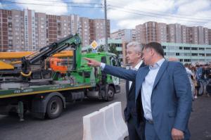 Сергей Собянин открыл сегодня новую эстакаду на пересечении 2-й Мелитопольской улицы и Варшавского шоссе