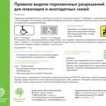 Правила выдачи парковочных разрешений для инвалидов и многодетных семей