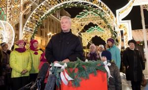Мэр Москвы Сергей Собянин открыл новогодний фестиваль Путешествие в Рождество