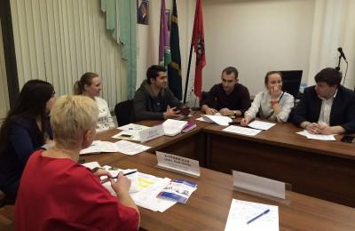 Состоялась рабочая встреча молодежной палаты района Бирюлево Восточное