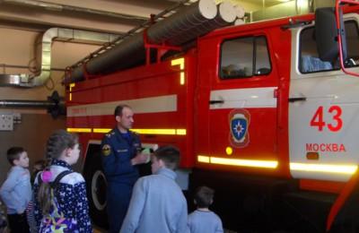 Юные жители района Бирюлево Восточное посетили пожарную часть №43