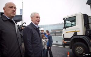 Мэр Москвы Сергей Собянин открыл автомобильное движение по новой развязке на юге столицы