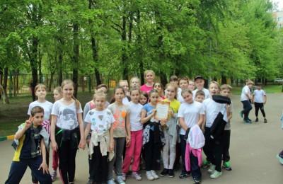 В районе Бирюлево Восточное организовали спортивную эстафету, посвященную Дню Победы