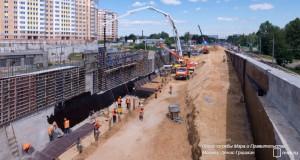 Строительство новой магистрали в ЮАОСтроительство новой магистрали в ЮАО