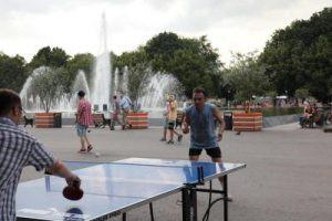 Семь площадок для настольного тенниса оборудовали в Южном округе