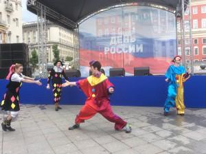 Главными героями представления стали клоуны Бублин и Звездочка