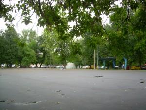 Строительство новой спортивной площадки в районе Бирюлево Восточное