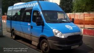 Маршрутное такси нового образца в районе Бирюлево Восточное