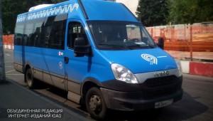 Новые синие автобусы в районе Бирюлево Восточное