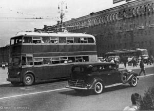 Двухэтажный троллейбус