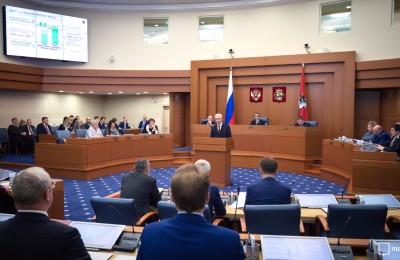Сергей Собянин представил отчет депутатам Мосгордумы