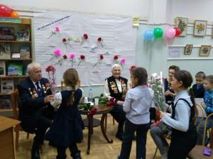 Встреча ветеранов Великой Отечественной войны с юными жителями района в библиотеке №138