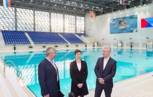 Мэр Москвы Сергей Собянин в ходе осмотра Олимпийского центра синхронного плавания