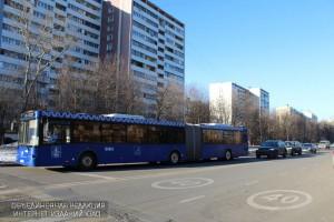 Автобус в районе Бирюлево Восточное