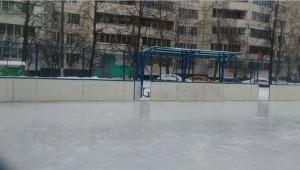 Перезалитое покрытие катка по адресу: Бирюлёвская улица, дом 58, корпус 2