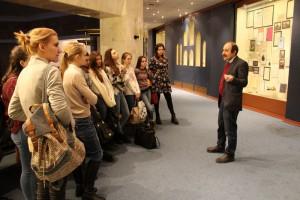 Студенты Педагогического колледжа №15 на экскурсии в музее Холокоста на Поклонной горе