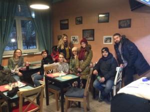 Студенты колледжа  Фаберже в Центре толерантности