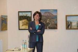 «Диктатором» Тотального диктанта в галерее «Загорье» стала теле- и радиоведущая Светлана Сорокина