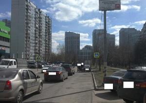 """Знак """"Пешеходного перехода"""" восстановили на Бирюлевской улице"""