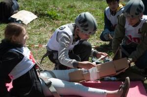 В Герценском парке состоялись межрайонные соревнования «Школа безопасности»