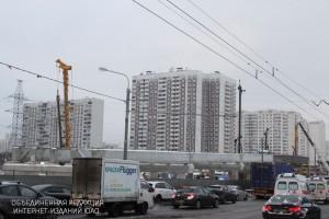 Работы над основной конструкцией эстакады через Павелецкое направление железной дороги завершены