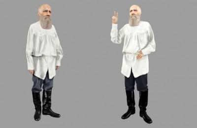 Лев Толстой в 3D ждет поклонников на улицах Москвы