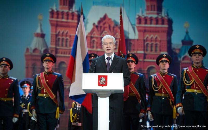 Сергей Собянин на параде кадетского движения Москвы