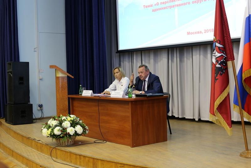 Встреча жителей Южного административного округа с префектом Алексеем Челышевым