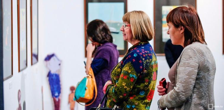 Галерея, посетители, выставка, картины, фото, мосру, 2308