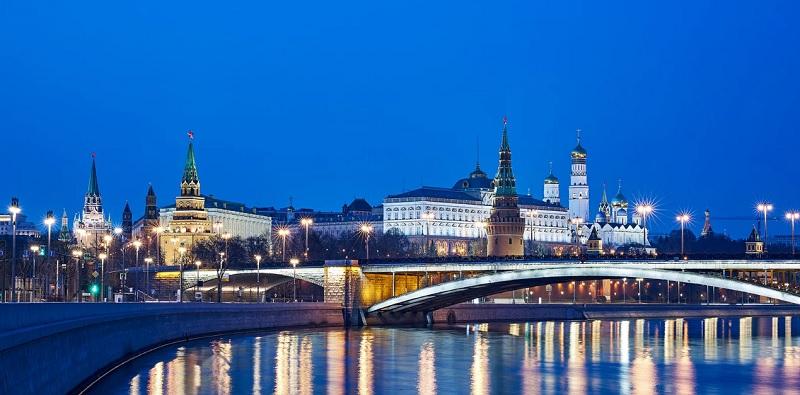 Москва, река, город, ночь, мост, мосру, 1604